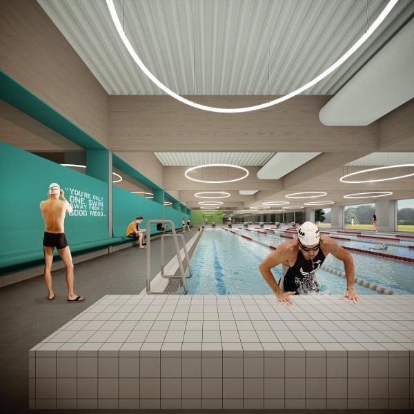 Nieuw intergemeentelijk zwembad in mortsel met steun van buurgemeenten hove borsbeek en edegem - Omgeving zwembad ontwerp ...